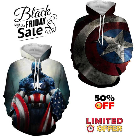 BLACK FRIDAY DEAL #2 - Captain America 2 Hoodies Bundle - Hoodielovers