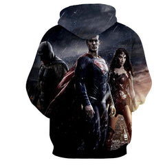 Justice League 3D Printed Hoodie / Super Man / Batman / Wonder Women