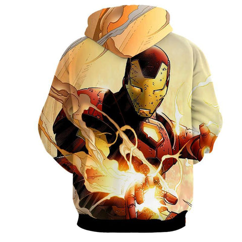 Iron Man Explosion 3D Printed Hoodie - Hoodielovers