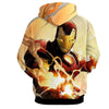 Image of Iron Man Explosion 3D Printed Hoodie - Hoodielovers