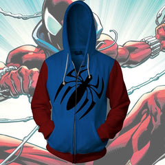 Spiderman Hoodie - Scarlet Spiderman Zip Up- Jacket - Hoodielovers
