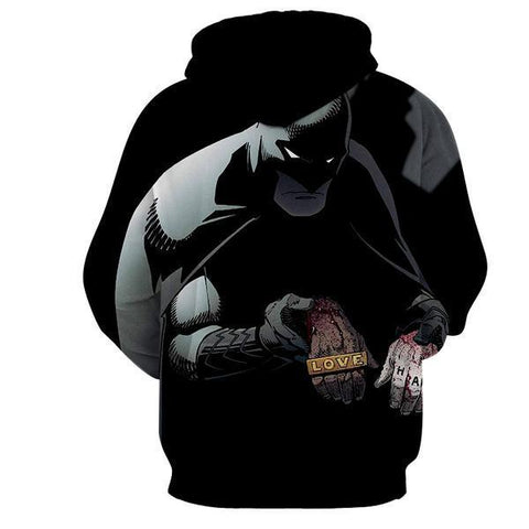 Batman Holding Jokers Love Hand 3D Hoodie - Batman Jacket - Hoodielovers