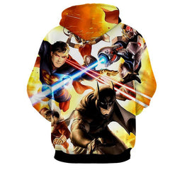 Justice League 3D Printed Hoodie / Batman / Superman / Wonder Women