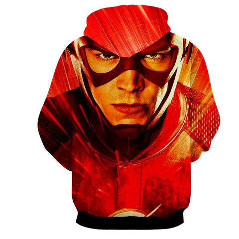 Flash 3D Printed Hoodie - The Flash Jacket - Star Lab Hoodie - Hoodielovers
