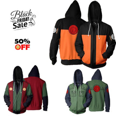 BLACK FRIDAY Naruto Bundle# 6 | THREE Zip Up In One Deal - Hoodielovers