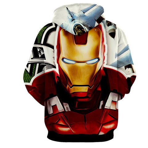 Angry Iron Man 3D Printed Hoodie - Hoodielovers