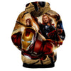 Image of Avengers 3D Printed Hoodie / Iron Man / Thor / Black Widow - Hoodielovers