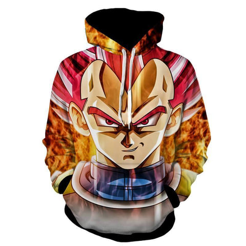 Dragon Ball Super Z Hoodie - Vegeta SSj God 3D hoodie - Hoodielovers