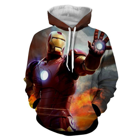 Iron Man Attack 3D Printed Hoodie - Hoodielovers