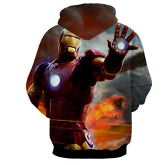 Iron Man Attack 3D Printed Hoodie