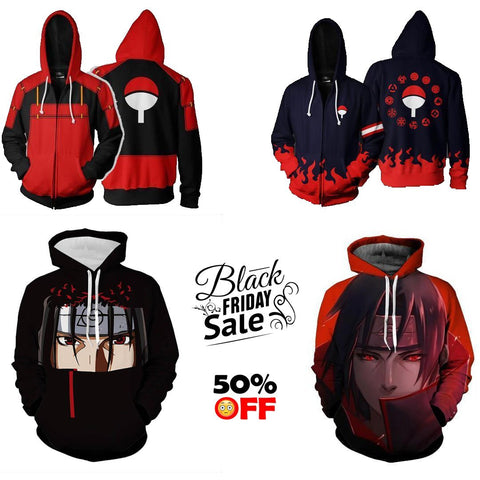 BLACK FRIDAY Naruto Bundle# 4  | FOUR Zip Up In One - Hoodielovers
