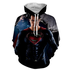 STARRING MAN OF STEEL 3D HOODIE - Hoodielovers