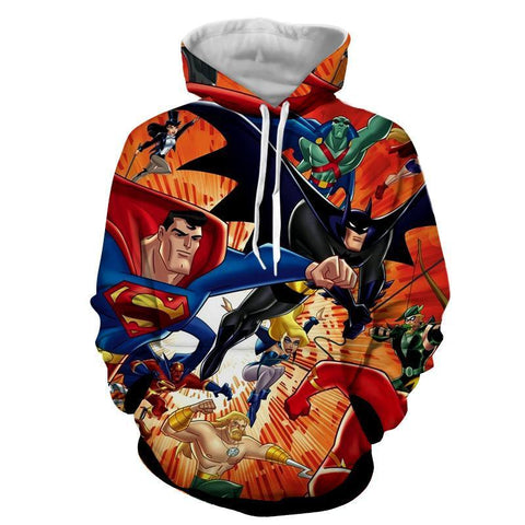 Justice League 3D Printed Hoodie All Super Heros - Hoodielovers