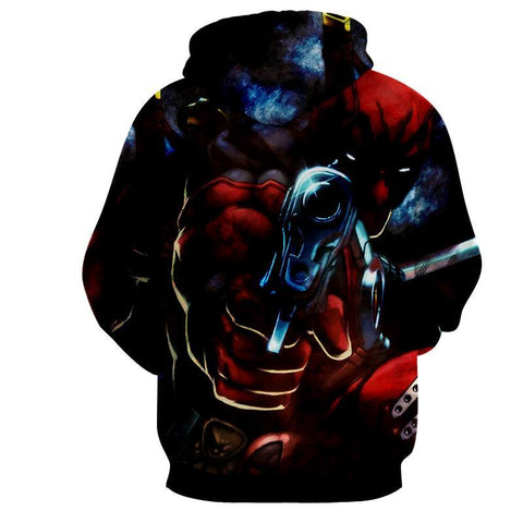 Deadpool 3D Hoodie - Deadpool Jacket - Deadpool Clothing - Hoodielovers