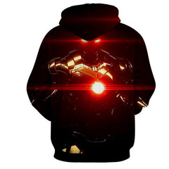Iron Man Light Flare 3D Printed Hoodie