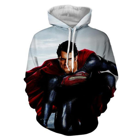 MAN OF STEEL 3D HOODIE - Hoodielovers