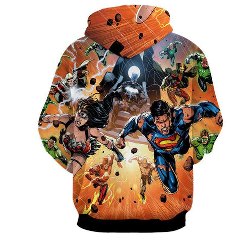 Justice League 3D Printed Hoodie - Hoodielovers