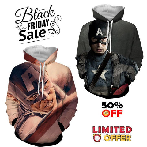 BLACK FRIDAY DEAL #3 - Captain America 2 Hoodies Bundle - Hoodielovers