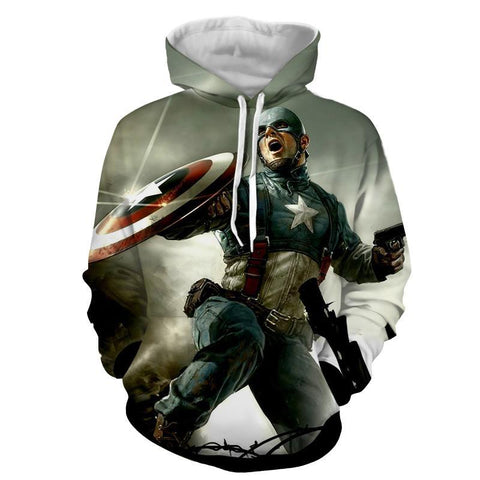 Captain America 3D Printed Hoodie During War - Hoodielovers