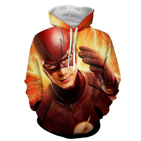 Fire Flash 3D Printed Hoodie - The Flash Jacket - Star Lab Hoodie - Hoodielovers