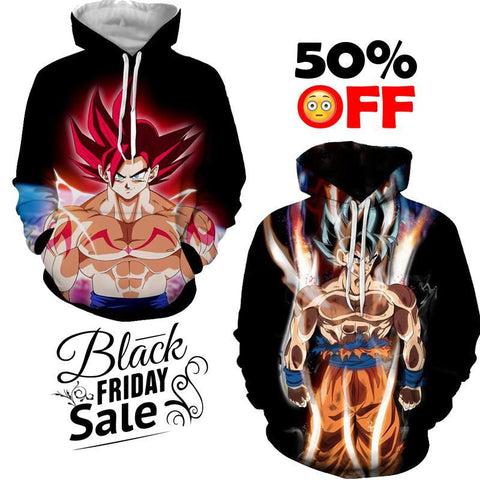 Black Friday Dragon ball Z Super Deal 12 | TWO In One 3D Hoodie Package - Hoodielovers