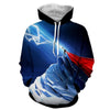 Image of Thor Hoodies - 3D Printed Hoodie - Thor Electric Power - Hoodielovers