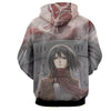 Image of Mikasa Ackermann Hoodie- Attack On Titan 3D Hoodie - JACKET - Hoodielovers