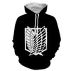Image of Attack On Titan Logo Hoodie- Attack On Titan 3D Hoodie - JACKET - Hoodielovers