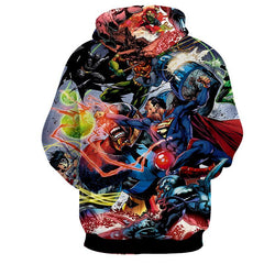 Justice League 3D Printed Hoodie / Super Man / Batman / Wonder Women & All Heros