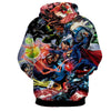 Image of Justice League 3D Printed Hoodie / Super Man / Batman / Wonder Women & All Heros - Hoodielovers
