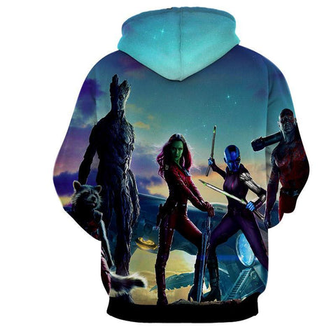 Guardian Of Galaxy 3D Hoodie-Guardian Of Galaxy Jacket - Hoodielovers