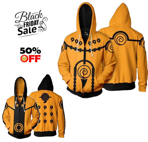 BLACK FRIDAY Naruto Bundle# 8 | Two Zip Up In One Deal - Hoodielovers