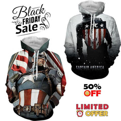 BLACK FRIDAY DEAL #4 - Captain America 2 Hoodies Bundle - Hoodielovers