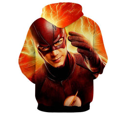 Fire Flash 3D Printed Hoodie - The Flash Jacket - Star Lab Hoodie