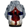 Image of Hanged Spiderman 3D Hoodie - Jacket - Hoodielovers