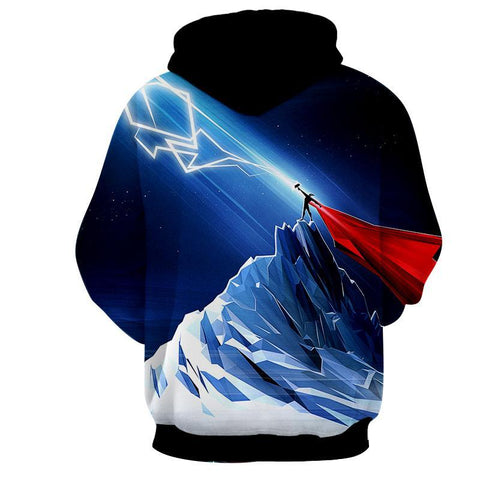 Thor Hoodies - 3D Printed Hoodie - Thor Electric Power - Hoodielovers