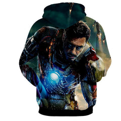 Iron Man Battle 3D Printed Hoodie