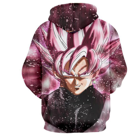 Dragon Ball Super Z Hoodie - Black Goku Rose 3D Hoodie - Hoodielovers