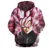 Image of Dragon Ball Super Z Hoodie - Black Goku Rose 3D Hoodie - Hoodielovers