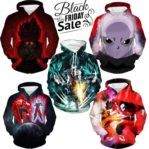 Black Friday Dragon ball Z Super Deal 2 | Five In One 3D Hoodie Package - Hoodielovers
