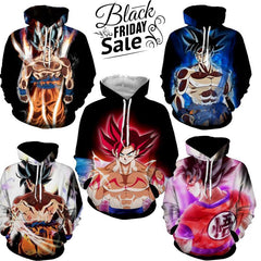 Black Friday Dragon ball Z Super Deal 1 | Five In One 3D Hoodie Package - Hoodielovers