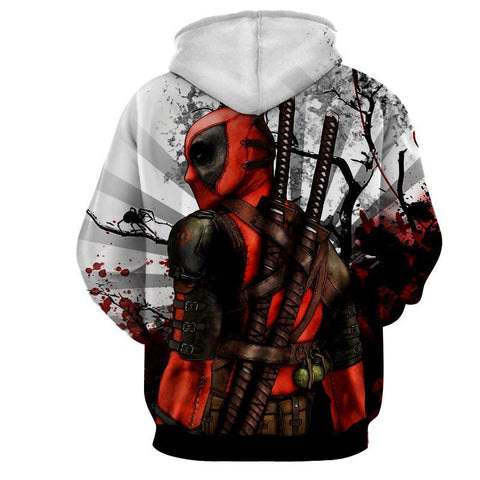 Deadpool Hoodie - 3D Deadpool - Deadpool Jacket - Hoodielovers