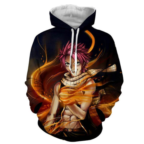 Natsu Dragneel Dragon Mode Fairy Tail 3D Hoodies - Hoodielovers