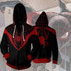 Image of ULTIMATE SPIDER-MAN MILES MORALES - ZIP UP HOODIE - 3D HOODIE - Hoodielovers