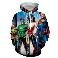 Justice League 3D Printed Hoodie / Super Man / Aqua / Wonder Women & All Heros - Hoodielovers