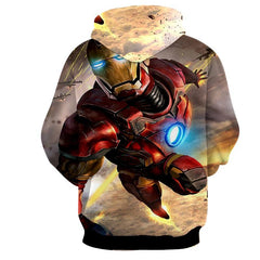 Flying Iron Man 3D Printed Hoodie
