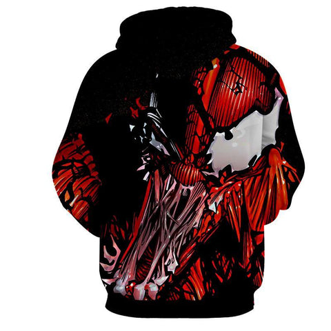 Red Venom Attack Spiderman 3D Hoodie - Jacket - Hoodielovers