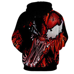 Red Venom Attack Spiderman 3D Hoodie - Jacket