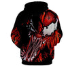 Image of Red Venom Attack Spiderman 3D Hoodie - Jacket - Hoodielovers
