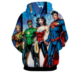 Justice League 3D Printed Hoodie / Super Man / Aqua / Wonder Women & All Heros